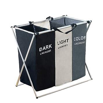 3 Fächer Wäschesammler Laundry Wäschesortierer Wäschekorb KOSTENLOSER VERSAND