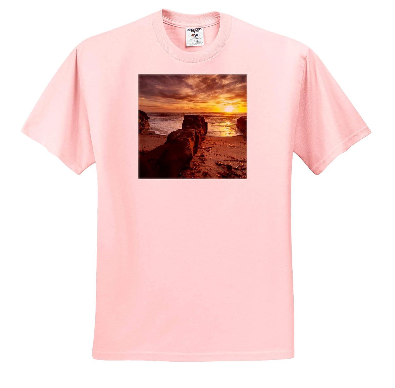 Sunset Near Coast BLVD Park California ts/_314582 3dRose Danita Delimont California Adult T-Shirt XL USA La Jolla
