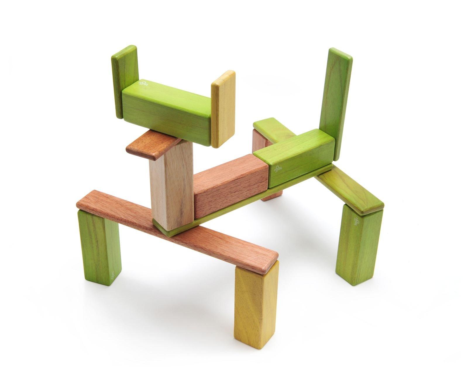 22 Piece Tegu Endeavor Magnetic Wooden Block Set, Jungle by Tegu (Image #3)