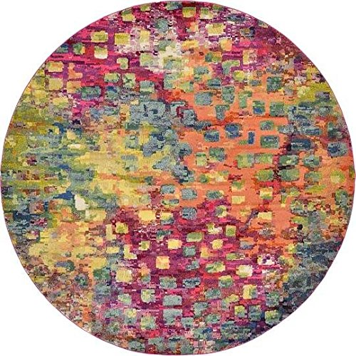 Unique Loom Barcelona Collection Multi 10 ft Round Area Rug (10' x 10') - 10' Round Area Rug