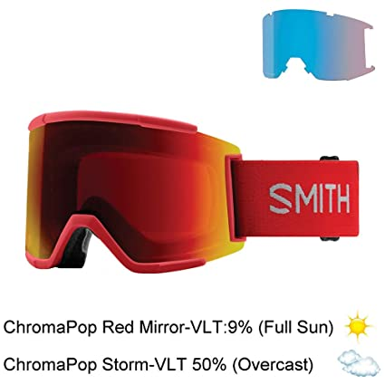 aa10ee53e5 Image Unavailable. Image not available for. Color  Smith Optics Squad Xl  Adult Snow Goggles - Rise Chromapop Sun Red Mirror One