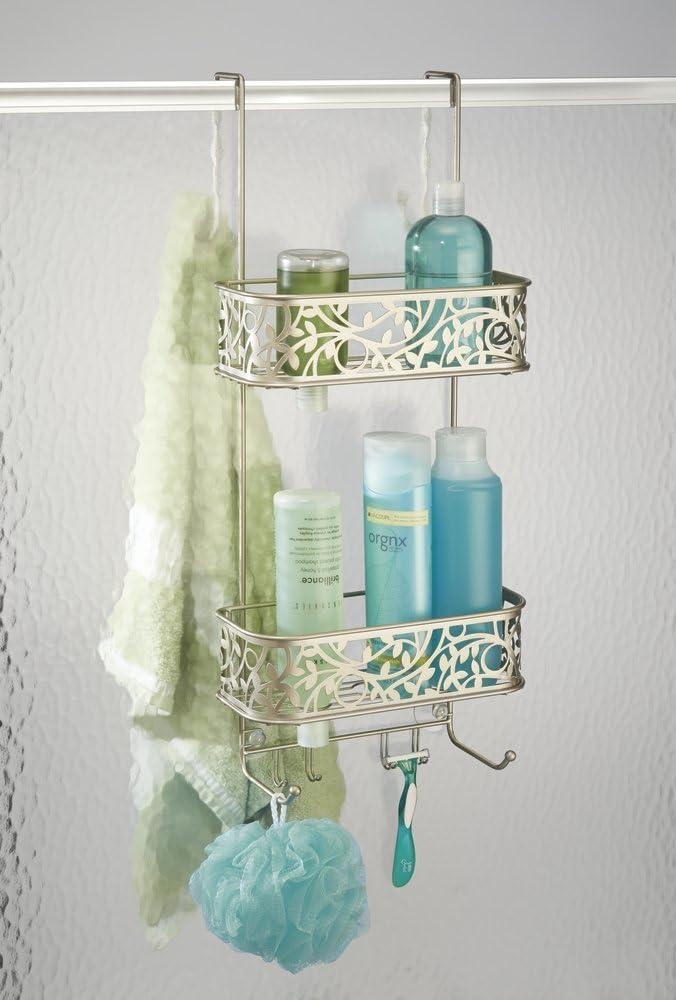 mDesign – Organizador de ducha para colgar sobre la mampara – Práctico estante para ducha de acero inoxidable – Cesta de ducha sin taladro para tus productos de higiene personal: Amazon.es: Hogar