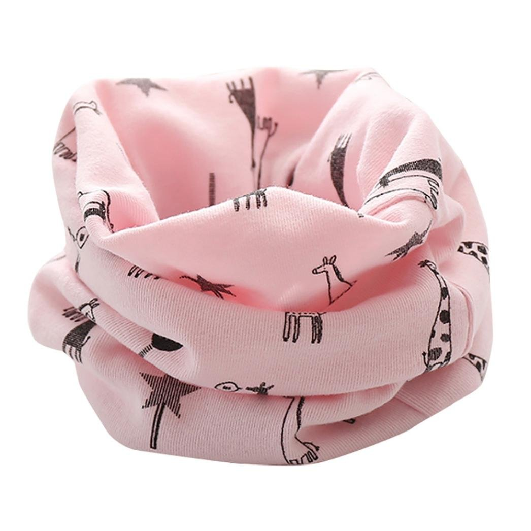 TM Colorful New Autumn Winter Boys Girls Baby Cute Giraffe Scarf Cotton O Ring Neck Scarves B