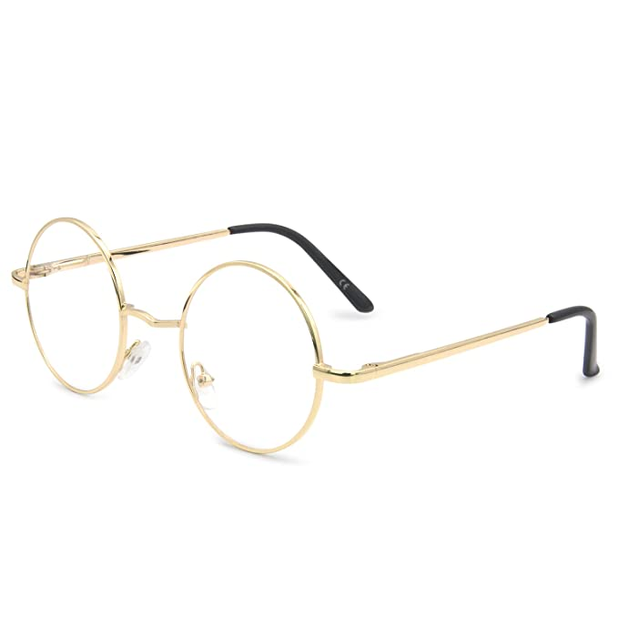 0d9ace03ab AMZTM Metal Frame Small Round Classic Retro Reading Glasses For Women and  Men Anti Blue Light