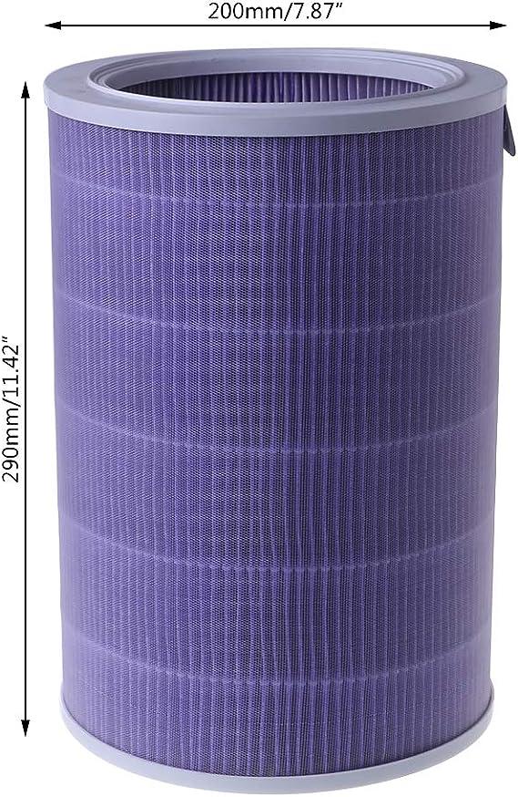 Kncobuec - Cartuchos de Filtro para Agua Brita, purificador de Aire, Cartucho de Filtro de Fibra de Carbono, eliminación de formaldehído para Xiaomi: Amazon.es: Hogar