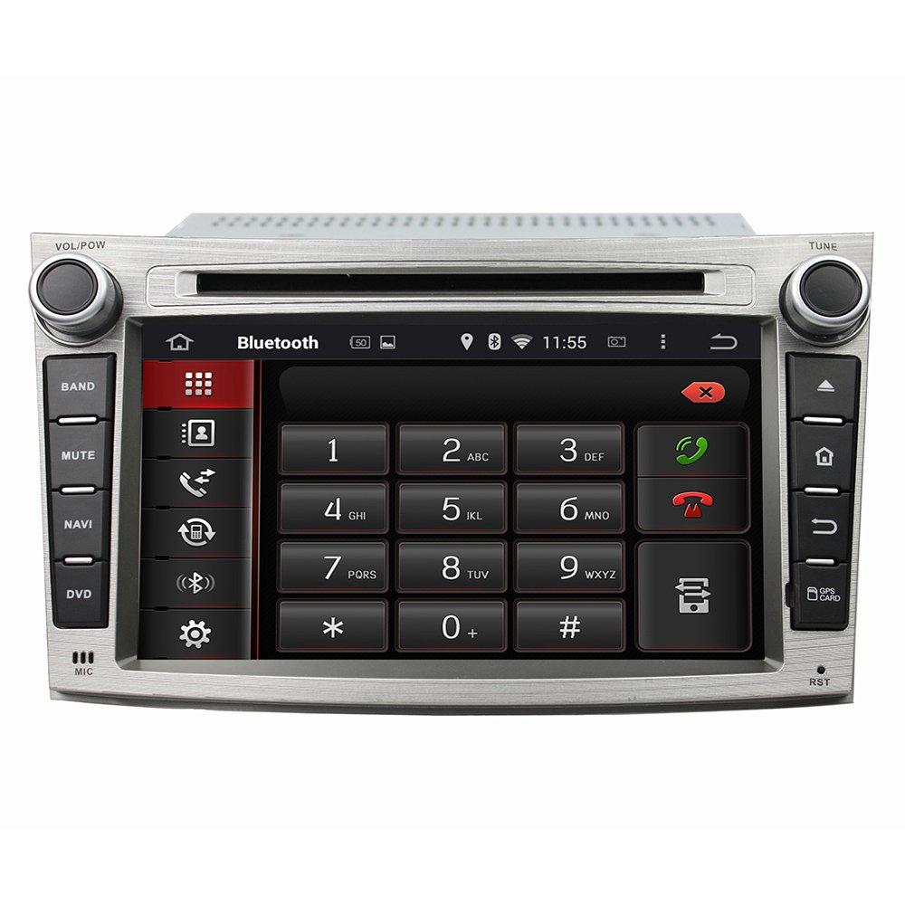 Android 6.0 Octa Core 1024 * 600 coche reproductor de DVD GPS navegación Multimedia estéreo de coche para Subaru Legacy/Outback 2009 2010 2011 2012 Radio ...