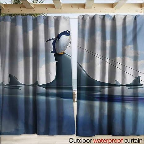 warmfamily - Pérgola de tiburón para Patio (108 x 96 cm), Color Azul y Naranja: Amazon.es: Jardín