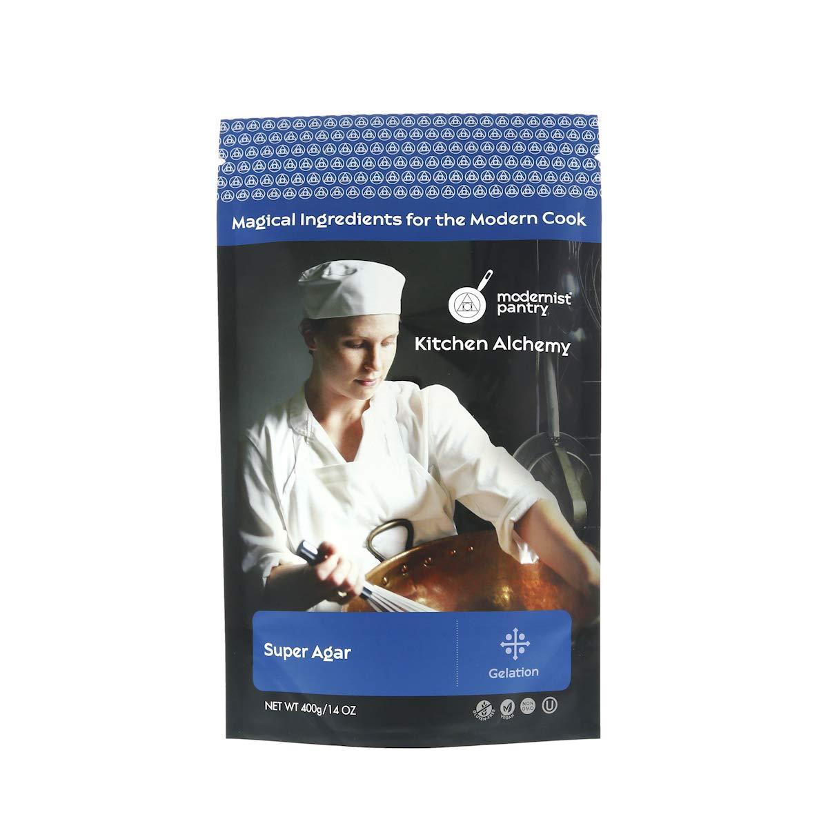 Super Agar Powder (Molecular Gastronomy) ⊘ Non-GMO ☮ Vegan ✡ OU Kosher Certified - 400g/14oz
