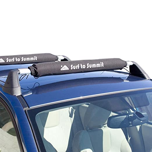 Com Surf To Summit Roof Rack Cushion Pads For Kayak Canoe Surfboard Paddle Board Sup Weatherproof One Set Of 2 Black 20 Inch Automotive