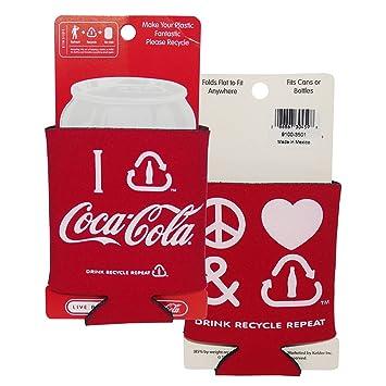 Coca-Cola Classic puede Insulator – paz amor reciclar Set 2