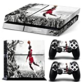 CAN® Ps4 Console Designer Protective Vinyl Skin Decal Cover for Sony Playstation 4 & Remote Dualshock 4 Wireless Controller Stickers – Flying Man Jordan Style For Sale