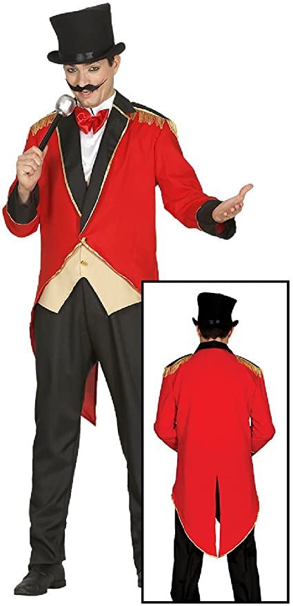 d7f0690e5 Amazon.com: Adult Mens Cheeky Ringmaster Lion Tamer Carnival Circus  Festival Fun Fancy Dress Costume Outfit (Medium): Toys & Games