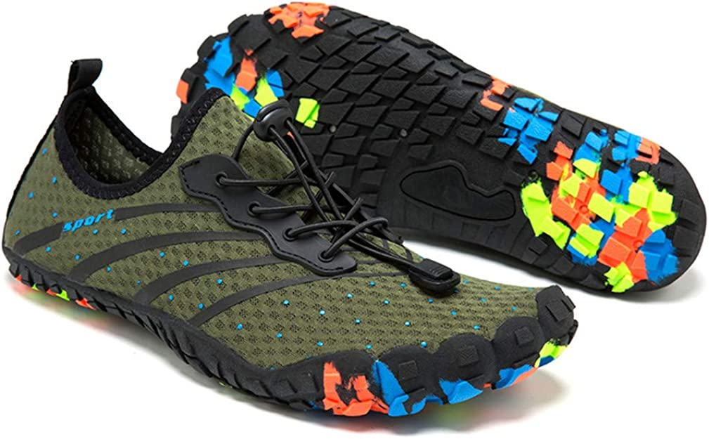 Zapatos de agua para mujeres y hombres descalzos rápidos, Verde ...