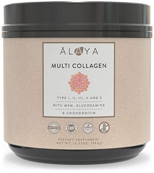 The Alaya Multi Collagen Supplement travel product recommended by Stefanie Almond on Pretty Progressive.
