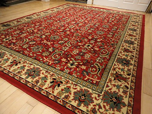 Red Traditional Rugs Large Red 5x7 Persian Rug 5x8 Red