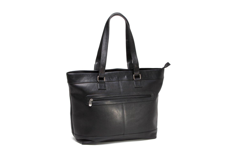 Le Donne Leather Women's 16'' Laptop Business Tote, Black