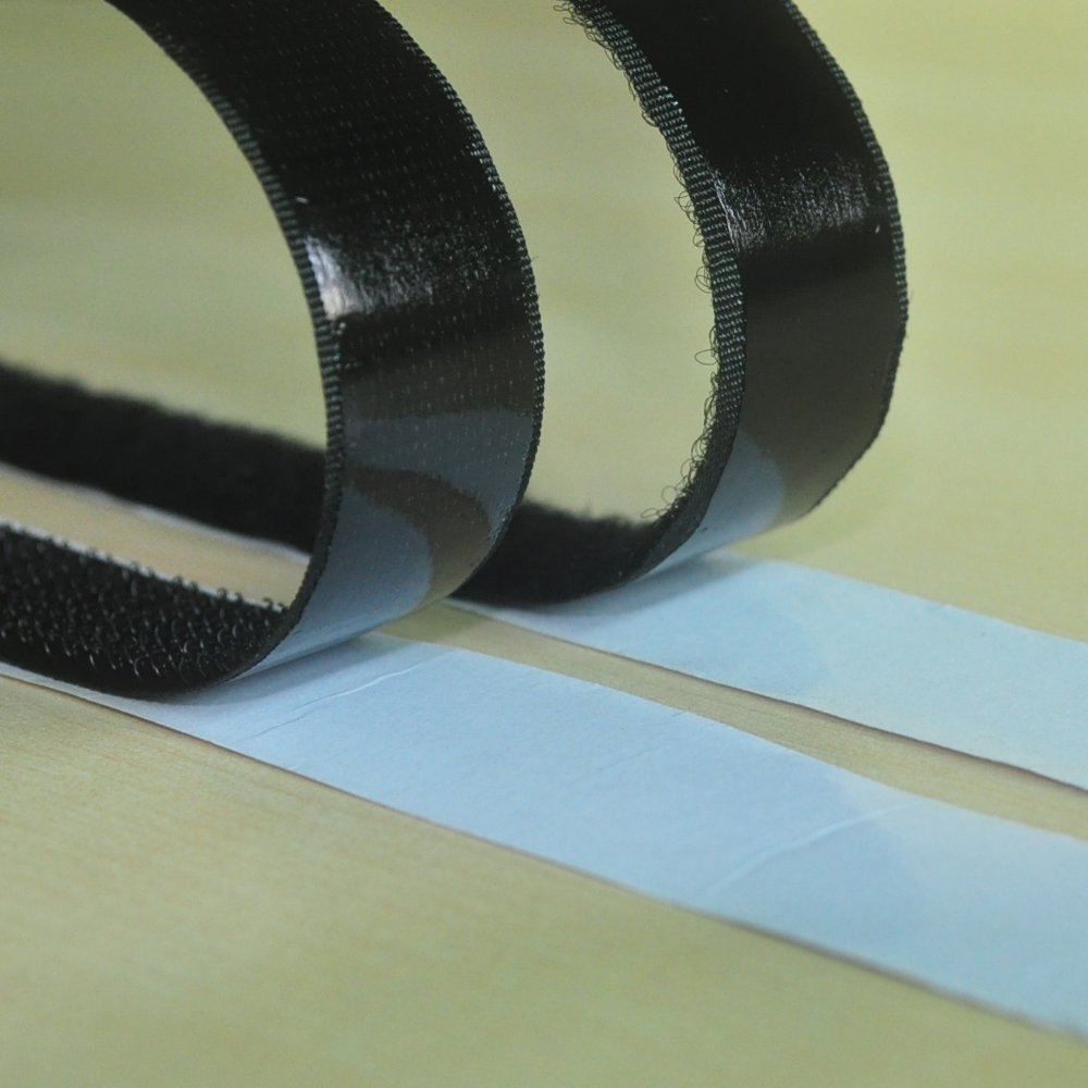 Lekou 0.8 Inch 100% Nylon Adhesive Hook and Loop Fastener Roll Tape Black - 16.5 Feet by Lekou (Image #2)