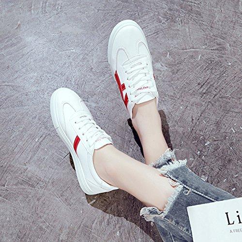Pequeños Estudiante Plano Fondo Del Silvestres El La GAOLIM Chica Del rojo Primavera Zapatos Zapatos De Blancos Blancos Zapatos Los Casual Tablero 5zCvnqwU