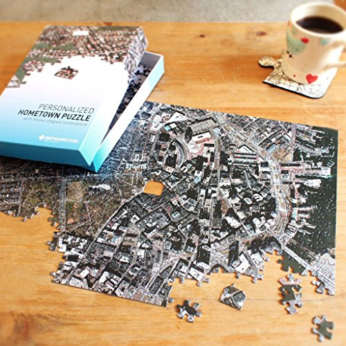 Personalized 'My Hometown' Jigsaw Puzzle (Aerial Photography) (Aerial Map Photography)