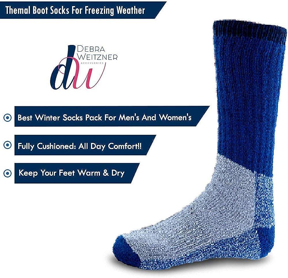 Debra Weitzner Merino Wool Hiking Socks For Men and Women 6 Pairs Athletic Socks Warm Thick Socks