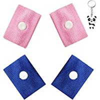 2 Pairs Sickness Bands with Storage Box, Blue&Pink Motion Anti Nausea Travel Sickness Wrist Bands Adults Children with Acupressure for Sea Car Flying Pregnancy