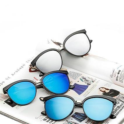 qbling technolog Bonbons Brand designer Cat Eye Lunettes de soleil Femme  Lunettes de soleil en plastique de luxe en plein air rétro classique,Blue  Lens  ... 0d8c19b37e95