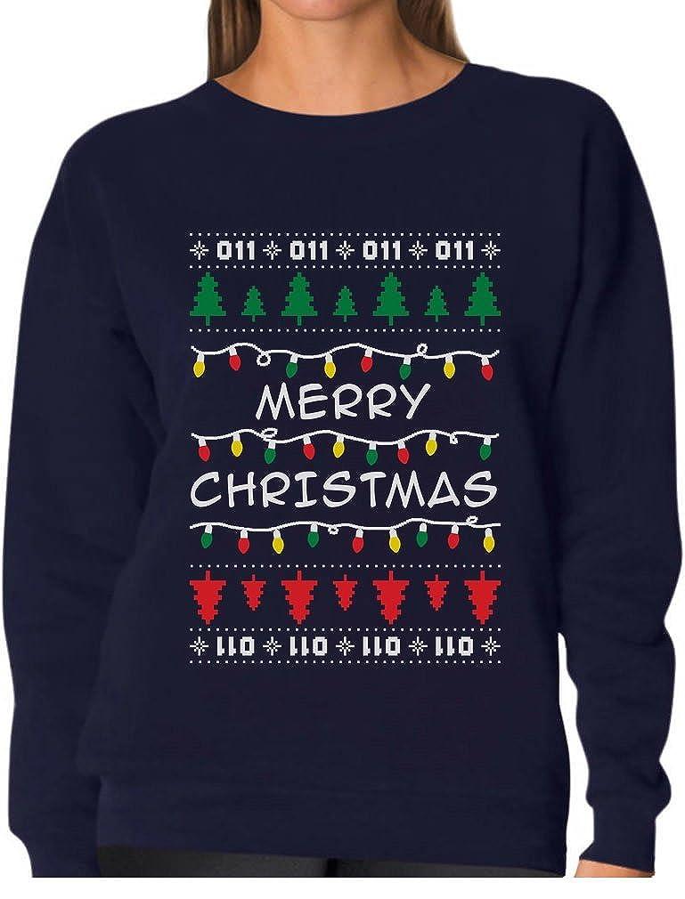 Tstars Strange Merry Christmas From The Upside Down Ugly Xmas Women Sweatshirt GtPtPr3g8