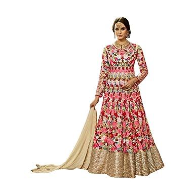 38033c76d9a Designer bollywood indien anarakali salwar kameez jupe longue avec une  veste en filet 606
