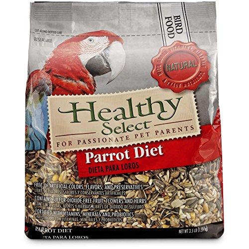 - Healthy Select Parrot Diet Bird Food, 3.5 lbs.