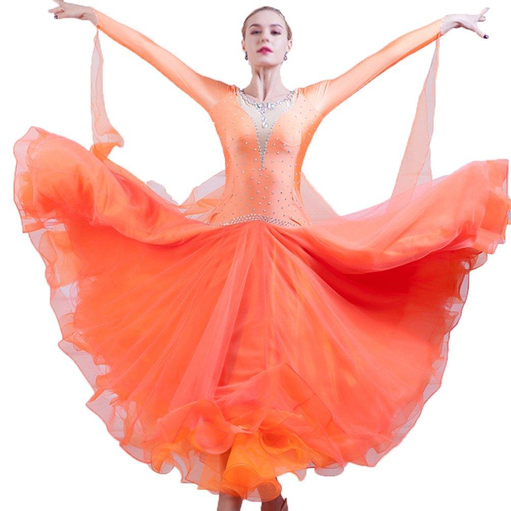 MoLiYanZi Walzer Modern Performance Tanzoutfit Für Frauen Wettbewerb Kleider Kostüme Gesellschaftstanz B07C41G7Z7 Bekleidung Wert