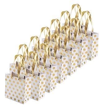 Fogawa 12pcs Pochette Cadeau Sac Mariage Emballage Cadeaux Anniversaire Sac Cadeau En Papier Carton Pour Mariage Aniversaire Noël Motif De Pois