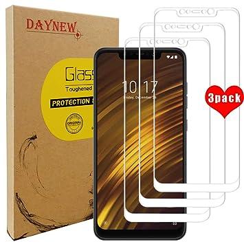 DAYNEW [3-Pack] Xiaomi Pocophone F1 Cristal Templado,Protector de Pantalla Vidrio Templado[3D Touch Compatibles][9H Dureza][Alta Definicion]para Xiaomi ...