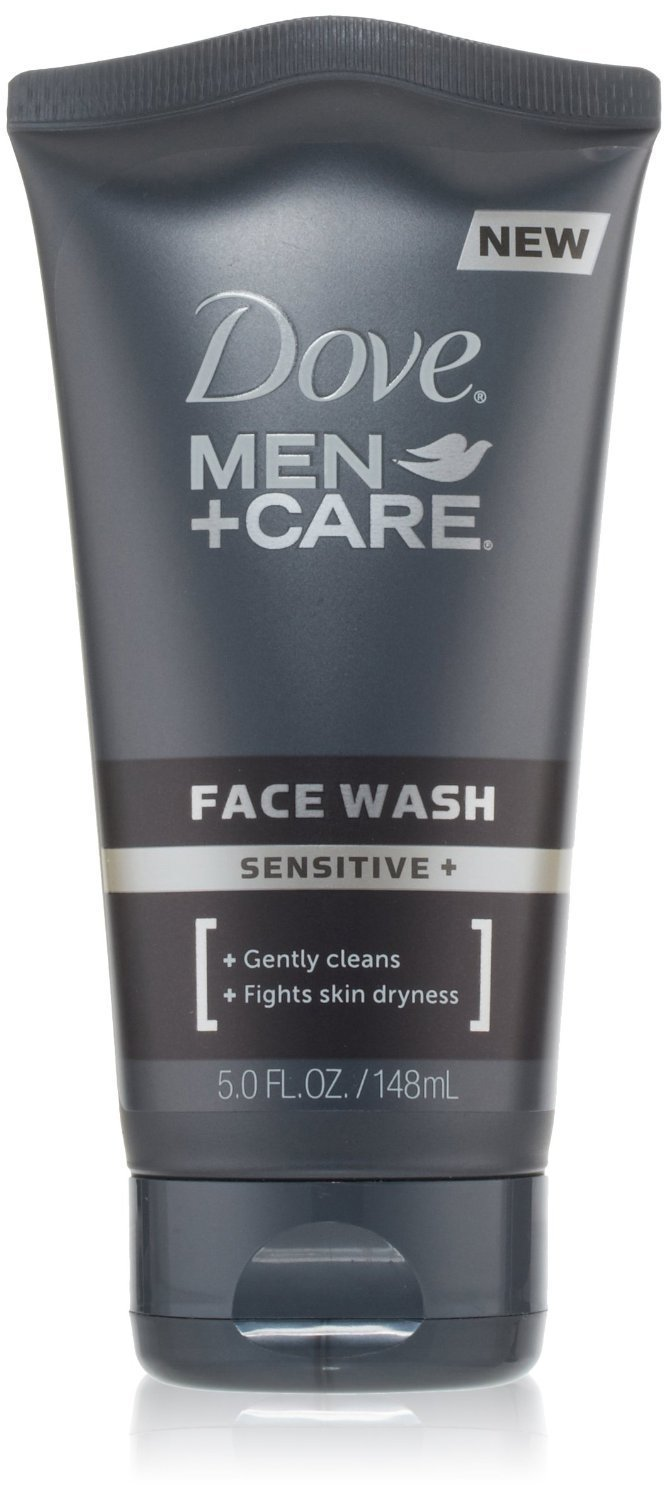 Dove Men+Care Sensitive + Face Wash, 5 Ounces (Pack of 2)