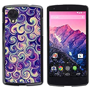 Paccase / SLIM PC / Aliminium Casa Carcasa Funda Case Cover para - vortex swirl purple candy surf swirl - LG Google Nexus 5 D820 D821