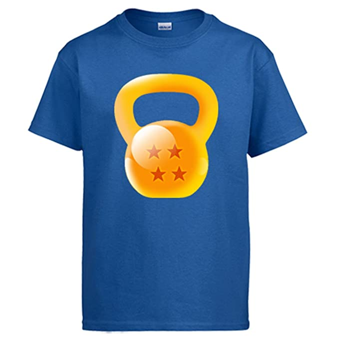 Diver Camisetas Camiseta Crossfit Kettlebell ilustración Parodia de Bola de Dragón