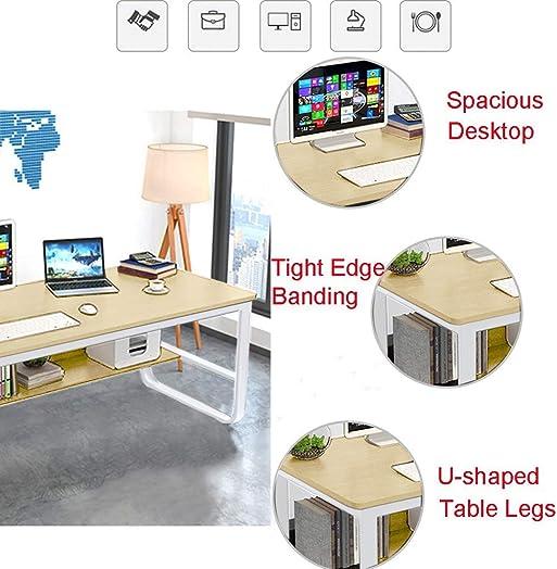 CAIfnv Modern Simple Home Desk,47-Inch Student Writing Desktop Desk Economic Computer Desk,Gaming Desk,Beige Beige