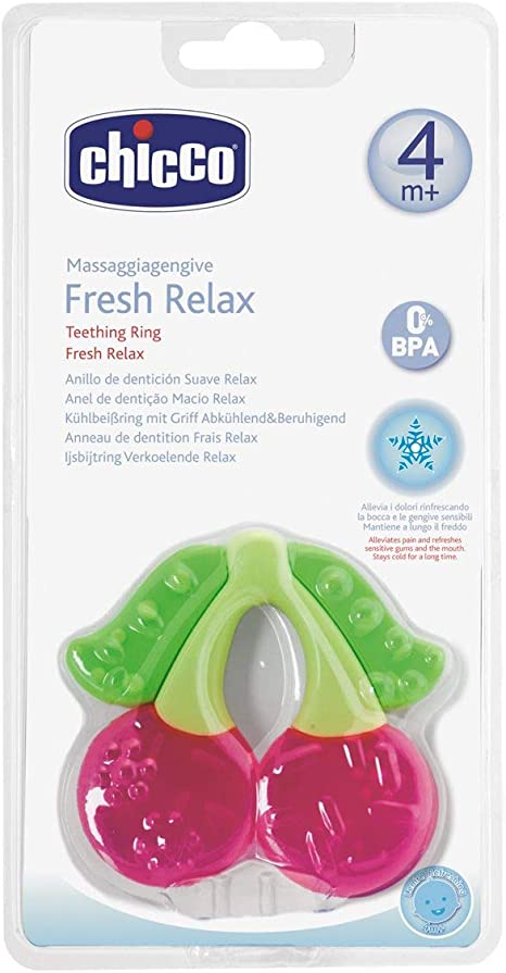 Chicco Fresh Relax - Mordedor de dentición, diseño cereza, 4 m+, 1 ...