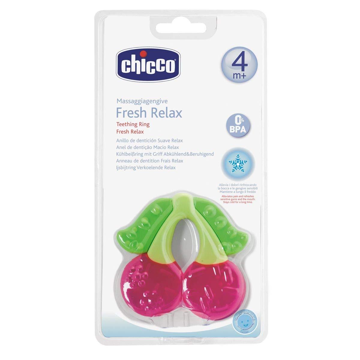 Chicco Fresh Relax - Mordedor de dentición, diseño cereza, 4 m+, 1 unidad