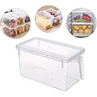 Food Storage Boxes With Lids Freezer Safe Volwco 4.7L Large Plastic Kitchen Refrigerator Stackable Food Fruit Storage…