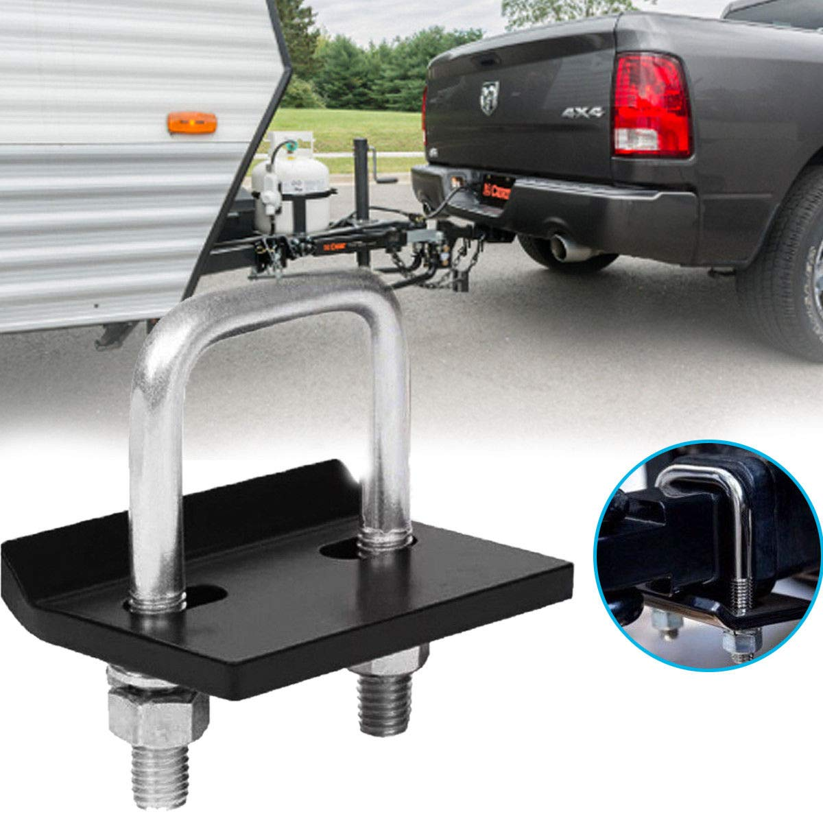 Anti Rust Adjustable Anti-Rattle Hitch Stabilizer Easy Installation for Trailer Carrier Rack La Vane Hitch Tightener for 1.25 inch /& 2 inch Hitches Heavy-Duty