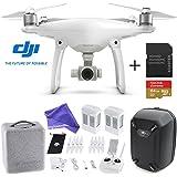 DJI Phantom 4 Quadcopter Drone Aircraft Deluxe Bundle - 64GB SD Card + Hardshell Backpack + Spare Intelligent Flight Battery + DigitalAndMore Microfiber Cloth