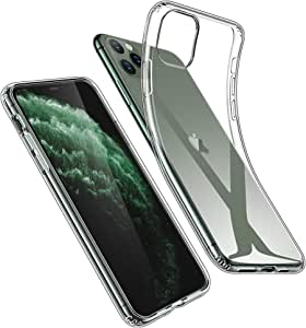ESR Case for iPhone 11 Pro [2019 Model, 5.8-Inch], Case Cover with Slim Clear Soft TPU, 1.1 mm Thick Back Case, Shock-Absorbing Air-Guard Corners, Flexible Silicone Cover, Clear
