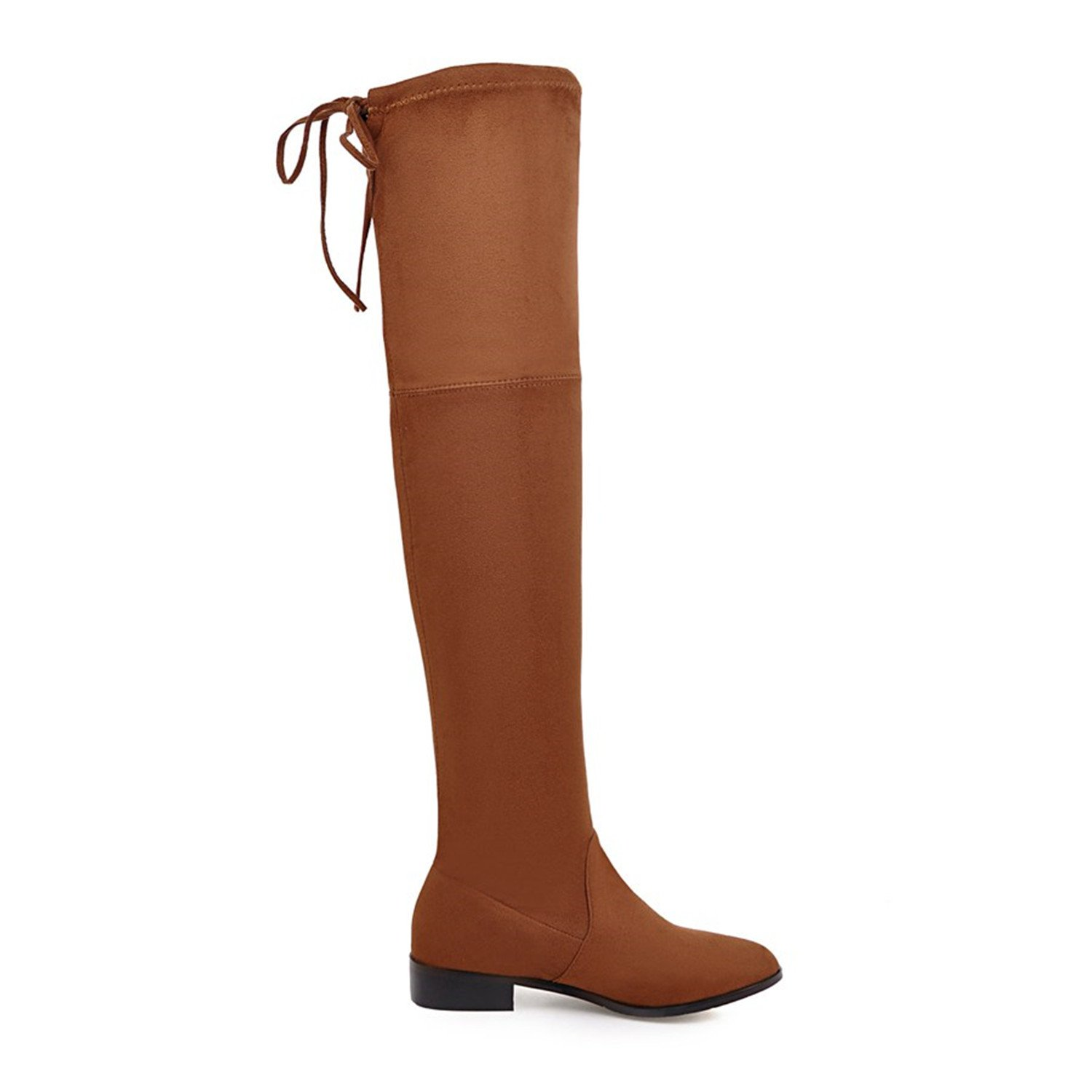 Dormery Ladies Shoes Square Low Heel Women Pointed Over The Knee Boots Scrub Black Pointed Women Toe Woman Motorcycle Boots Size 34-43 B078QX9BB7 Moto c8107e