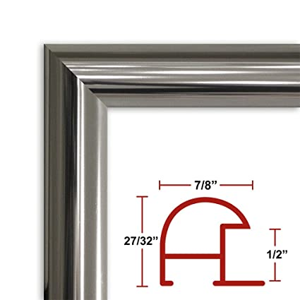 Amazoncom 29 X 30 Poster Frame Profile 16 Shiny Silver Custom
