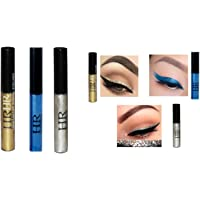 Genric HR METALLIC SILVER GOLD BLUE WATERPROOF GLITTER EYE LINER