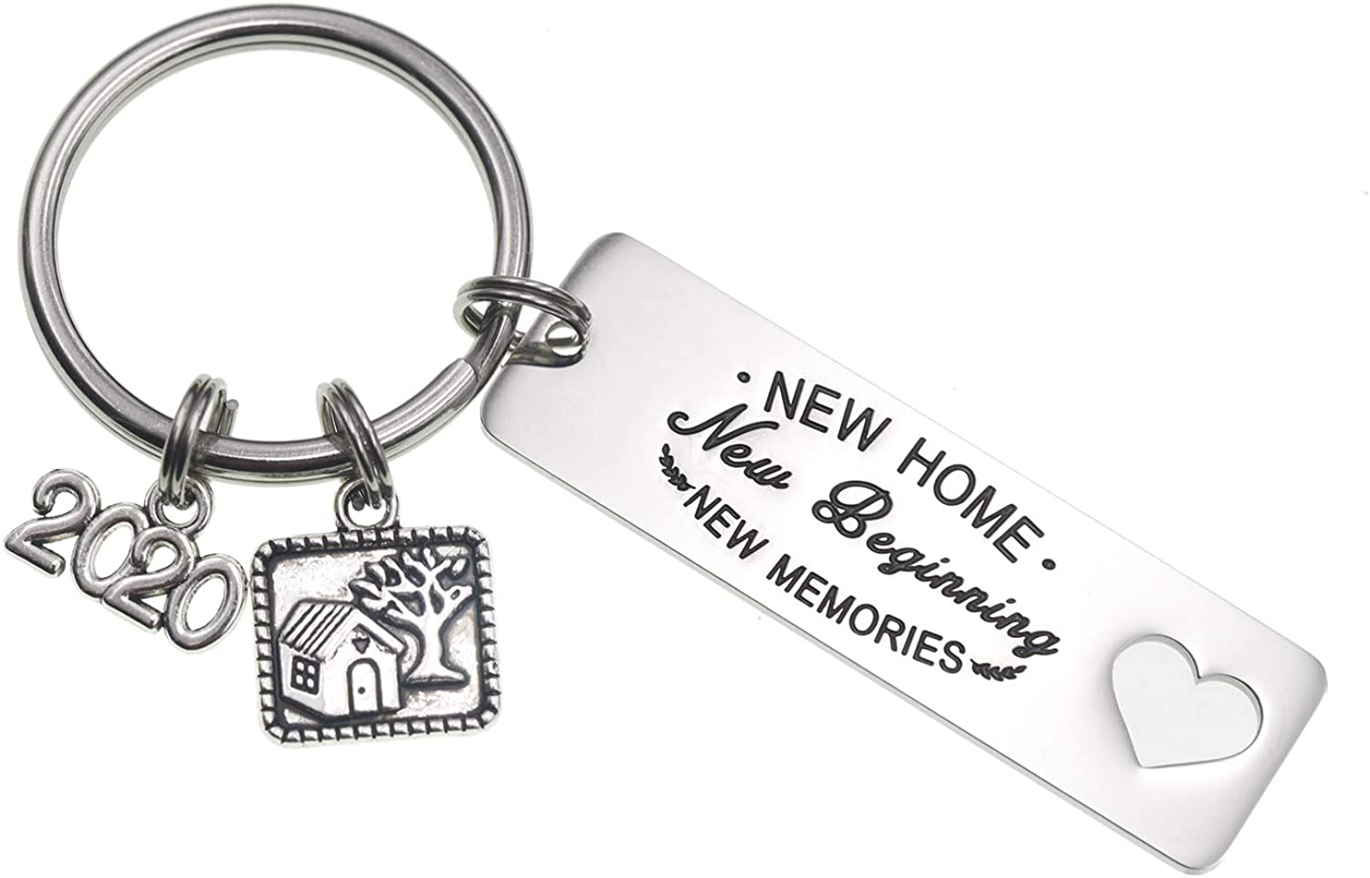 Housewarming Gifts New Home New Adventure 2020 Couples Keychain New Home Gift Ideas Husband Wife
