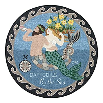 round rugs kitchen rugs round area rugs claire murray rugs 30u0026quot round washable mermaid