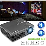Wireless WiFi Projector, LCD LED Video Projectors 3600 Lumen 200 High Definition Home Cinema Theater 1080p Full HD USB, Multimedia Projector for iPad Smartphone Laptop Blue Ray DVD Player PS4