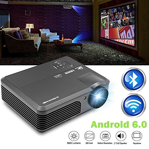 Wireless Wifi Projector  Lcd Led Video Projectors 3600 Lumen 200  High Definition Home Cinema Theater 1080P Full Hd Usb  Multimedia Projector For Ipad Smartphone Laptop Blue Ray Dvd Player Ps4