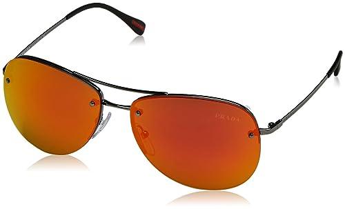Prada Linea Rossa 0PS 54RS, Gafas de Sol Unisex-Adulto, Gunmetal, 56